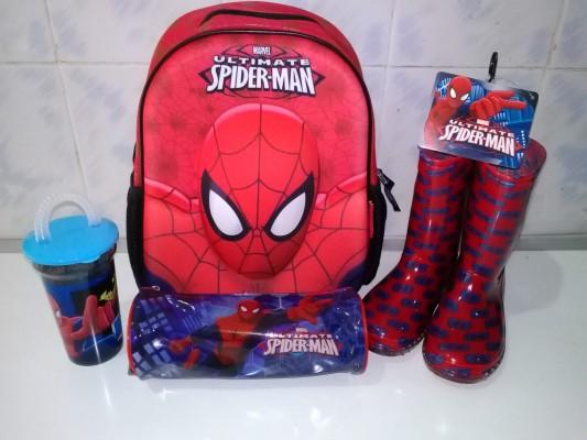 3 D  spider  man  အိတ္ပါ  set