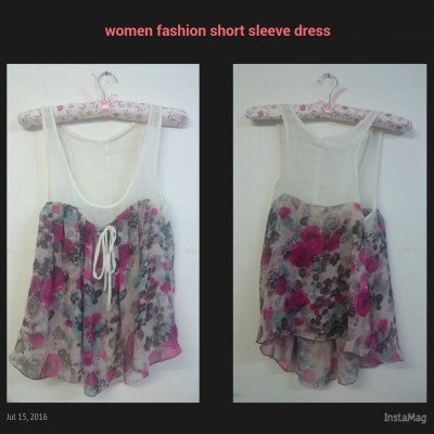 Women fashion short sleeve dress (Instock)