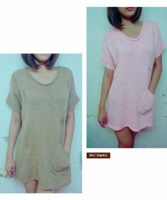 Cute girl fashion sweater dress (Instock)
